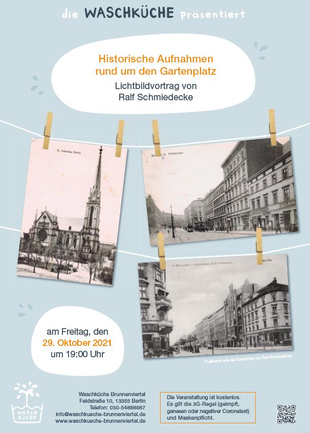 Plakat Aufnahmen rund um den Gartenplatz